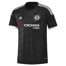 Adidas Chelsea Youth Third '15-'16 Replica Soccer Jersey (Black/White)