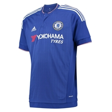 Adidas Chelsea Home Youth '15-'16 Replica Soccer Jersey (Chelsea Blue/White/Power Red)