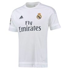 Adidas Real Madrid Home Youth '15-'16 Replica Soccer Jersey (White/Clear Grey)