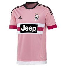 Adidas Juventus '15-'16 Youth Away Soccer Jersey (Pink/Black/White)