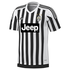 Adidas Juventus '15-'16 Youth Home Soccer Jersey (White/Black)