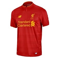New Balance Youth Liverpool Home '16-'17 Replica Soccer Jersey (Red)
