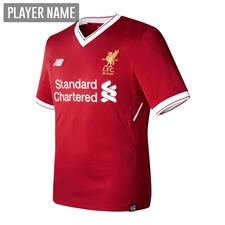 New Balance Youth Liverpool Home '17-'18 Replica Soccer Jersey (Red)