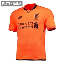 New Balance Youth Liverpool Third '17-'18 Jersey (Bold Citrus)