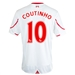 New Balance Liverpool 'COUTINHO 10' Away Youth '15-'16 Replica Soccer Jersey (White/Red)