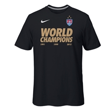 Nike USA Women's World Cup Champions Youth T-shirt (Black)
