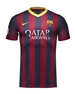 Nike FC Barcelona Home Youth '13-'14 Replica Soccer Jersey (Midnight Navy/Storm Red/Tour Yellow)