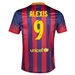 Nike FC Barcelona 'ALEXIS 9' Home '13-'14 Youth Replica Soccer Jersey (Midnight Navy/Storm Red/Tour Yellow)