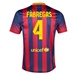 Nike FC Barcelona 'FABREGAS 4' Home '13-'14 Youth Replica Soccer Jersey (Midnight Navy/Storm Red/Tour Yellow)