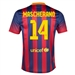 Nike FC Barcelona 'MASCHERANO 14' Home '13-'14 Youth Replica Soccer Jersey (Midnight Navy/Storm Red/Tour Yellow)