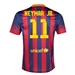 Nike FC Barcelona 'Neymar 11' Home '13-'14 Youth Replica Soccer Jersey (Midnight Navy/Storm Red/Tour Yellow)