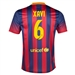 Nike FC Barcelona 'XAVI 6' Home '13-'14 Youth Replica Soccer Jersey (Midnight Navy/Storm Red/Tour Yellow)