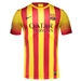 Nike FC Barcelona '13-'14 Youth Away Soccer Jersey (University Red/Vibrant Yellow)