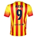 Nike FC Barcelona 'ALEXIS 9' Away '13-'14 Youth Replica Soccer Jersey (University Red/Vibrant Yellow)
