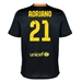 Nike FC Barcelona 'ADRIANO 21' Third '13-'14 Youth Replica Soccer Jersey (Black/Vibrant Yellow/University Red/Vibrant Yellow)
