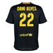 Nike FC Barcelona 'DANI ALVES 22' Third '13-'14 Youth Replica Soccer Jersey (Black/Vibrant Yellow/University Red/Vibrant Yellow)