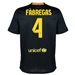 Nike FC Barcelona 'FABREGAS 4' Third '13-'14 Youth Replica Soccer Jersey (Black/Vibrant Yellow/University Red/Vibrant Yellow)