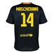 Nike FC Barcelona 'MASCHERANO 14' Third '13-'14 Youth Replica Soccer Jersey (Black/Vibrant Yellow/University Red/Vibrant Yellow)