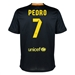 Nike FC Barcelona 'PEDRO 7' Third '13-'14 Youth Replica Soccer Jersey (Black/Vibrant Yellow/University Red/Vibrant Yellow)