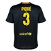 Nike FC Barcelona 'PIQUE 3' Third '13-'14 Youth Replica Soccer Jersey (Black/Vibrant Yellow/University Red/Vibrant Yellow)