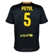 Nike FC Barcelona 'PUJOL 5' Third '13-'14 Youth Replica Soccer Jersey (Black/Vibrant Yellow/University Red/Vibrant Yellow)