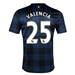 Nike Manchester United 'VALENCIA 25' Away 2013-2014 Youth Replica Soccer Jersey (Midnight Navy/Black/White)