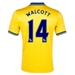 Nike Arsenal 'WALCOTT 14' Away 2013-2014 Youth Replica Soccer Jersey (Midwest Gold)