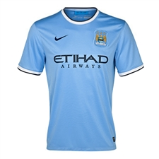 Nike Manchester City Youth Home '13-'14 Replica Soccer Jersey (Field Blue)