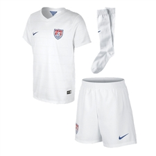 Nike USA Home Little Boys 2014 Soccer Kit (Football White/Game Royal)