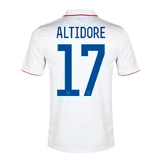 Nike Youth USA 'ALTIDORE 17' 2014 Home Replica Soccer Jersey (Football White/Game Royal)