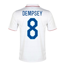 Nike Youth USA 'DEMPSEY 8' 2014 Home Replica Soccer Jersey (Football White/Game Royal)