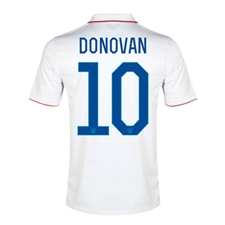 Nike Youth USA 'DONOVAN 10' 2014 Home Replica Soccer Jersey (Football White/Game Royal)