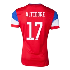 Nike Youth USA 'ALTIDORE 17' 2014 Away Replica Soccer Jersey (University Red/Football White/Game Royal)