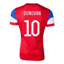 Nike Youth USA 'DONOVAN 10' 2014 Away Replica Soccer Jersey (University Red/Football White/Game Royal)