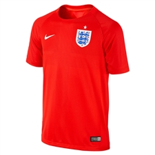 Nike England 2014 Away Youth Replica Soccer Jersey (Challenge Red/Varsity Red/Football White)