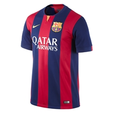 Nike FC Barcelona Home '14-'15 Youth  Replica Soccer Jersey (Loyal Blue/Noble Red/Sunlight)