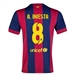 Nike FC Barcelona 'A. INESTA 8' Home '14-'15 Youth  Replica Soccer Jersey (Loyal Blue/Noble Red/Sunlight)