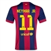 Nike FC Barcelona 'NEYMAR JR 11' Home '14-'15 Youth Replica Soccer Jersey (Loyal Blue/Noble Red/Sunlight)