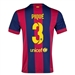 Nike FC Barcelona 'PIQUE 3' Home '14-'15 Youth  Replica Soccer Jersey (Loyal Blue/Noble Red/Sunlight)