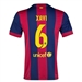 Nike FC Barcelona 'XAVI 6' Home '14-'15 Youth  Replica Soccer Jersey (Loyal Blue/Noble Red/Sunlight)