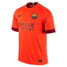 Nike FC Barcelona Away '14-'15 Youth Replica Soccer Jersey (Bright Crimson/Noble Red/Loyal Blue)