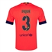 Nike FC Barcelona 'PIQUE 3' Away '14-'15 Youth Replica Soccer Jersey (Bright Crimson/Noble Red/Loyal Blue)