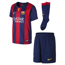 Nike FC Barcelona Home Little Boys 14'-15' Soccer Kit (Loyal Blue/Noble Red/Sunlight)