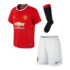 Nike Manchester United Home Little Boys 13'-14' Soccer Kit (Diablo Red/Black/Football White)