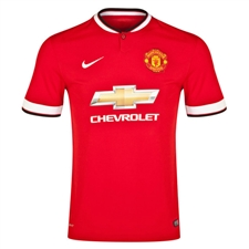Nike Manchester United Youth Home '14-'15 Replica Soccer Jersey (Diablo Red/Football White)