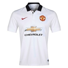Nike Manchester United Away '14-'15 Youth Replica Soccer Jersey (Football White/Black/Diablo Red)