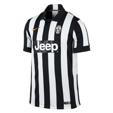 Nike Juventus '14-'15 Youth Home Soccer Jersey (Football White/Black/Pro Gold)