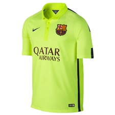 Nike FC Barcelona Third '14-'15 Youth Replica Soccer Jersey (Volt Ice/Volt/Loyal Blue)