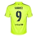 Nike FC Barcelona 'SUAREZ 9' Third '14-'15 Youth Replica Soccer Jersey (Volt Ice/Volt/Loyal Blue)