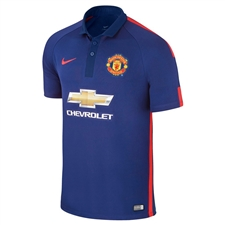 Nike Manchester United Third '14-'15 Youth Replica Soccer Jersey (Old Royal/Loyal Blue/Crimson)